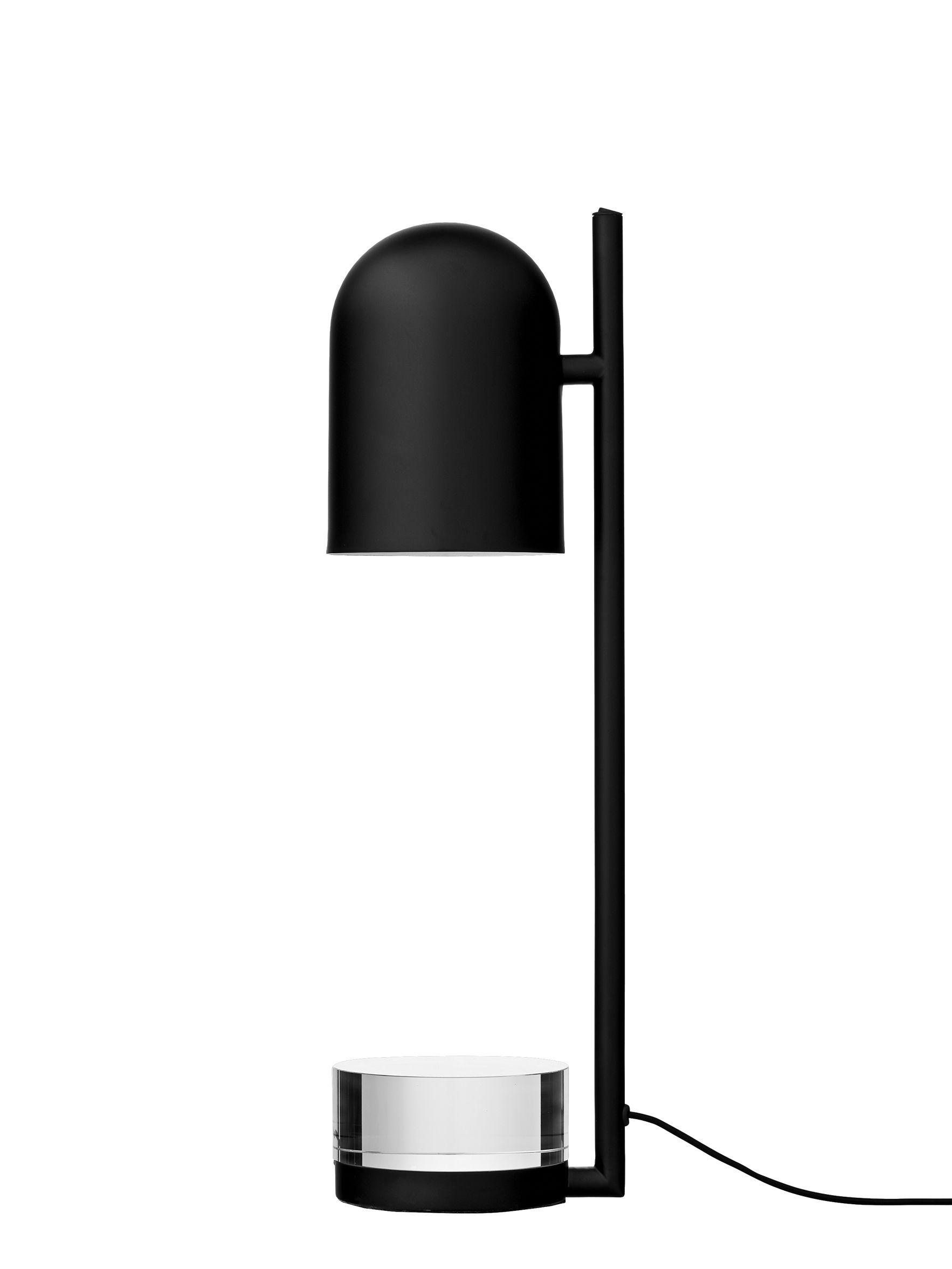 Illuminazione - Lampade da tavolo - Lampada da posa LUCEO - / Orientabile - Metallo & vetro di AYTM - Noir - Ferro dipinto, Vetro