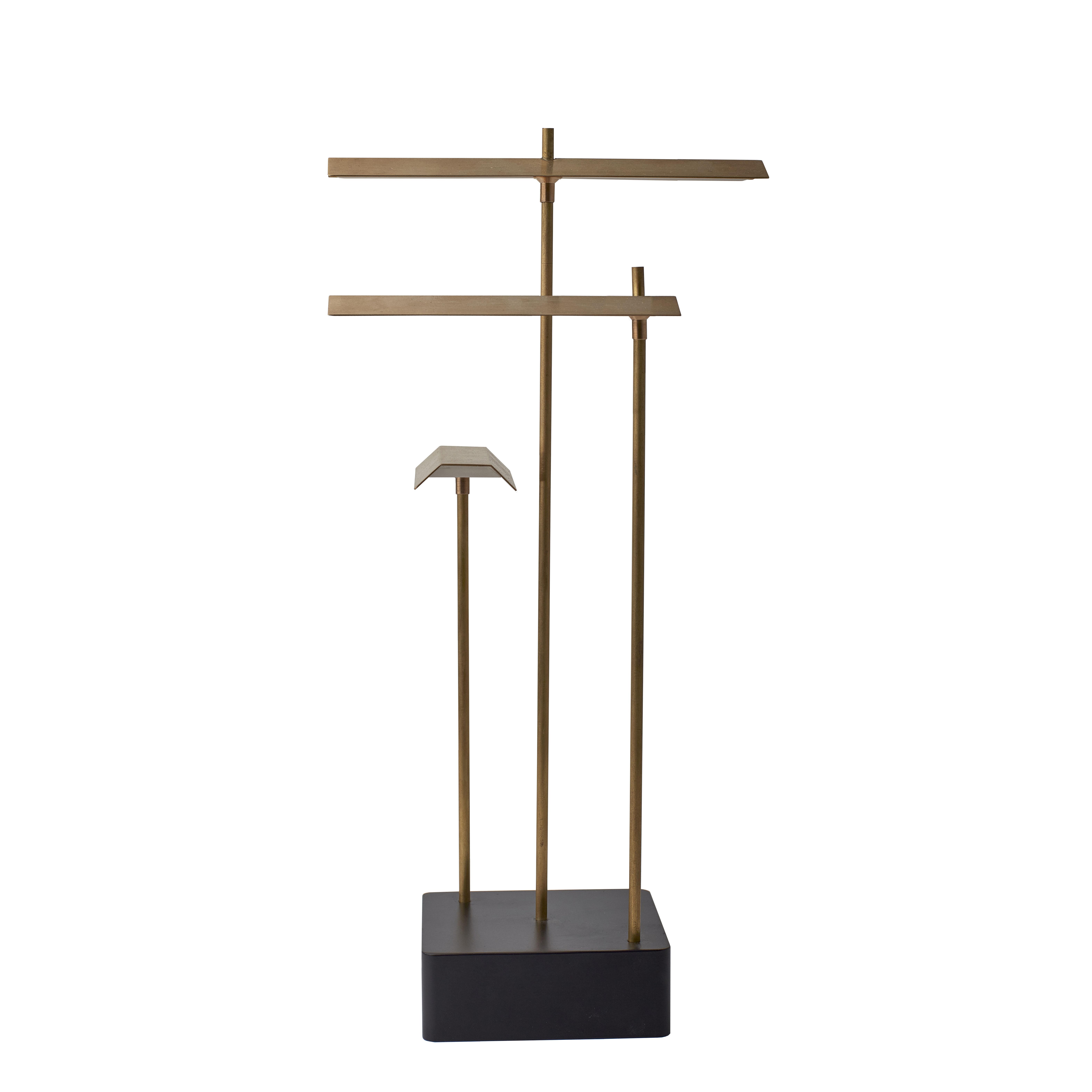 Illuminazione - Lampade da tavolo - Lampada senza fili Knokke LED - / H 35 cm - Ricarica USB di DCW éditions - Ottone - Acciaio, Ottone naturale spazzolato