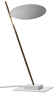 Lampe de table Lederam T1 / LED - H 41 cm - Catellani & Smith blanc,or en métal