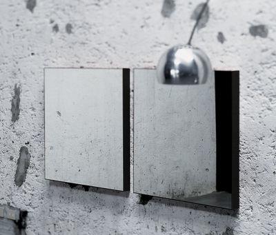 Miroir mural Giano / version murale - 90 x 90 cm - Glas Italia noir laqué en verre