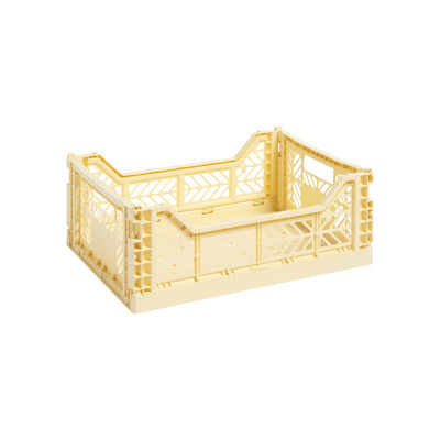 Tous les designers - Panier Colour Crate Medium / 40 x 30 cm - Hay - Jaune pâle - Polypropylène