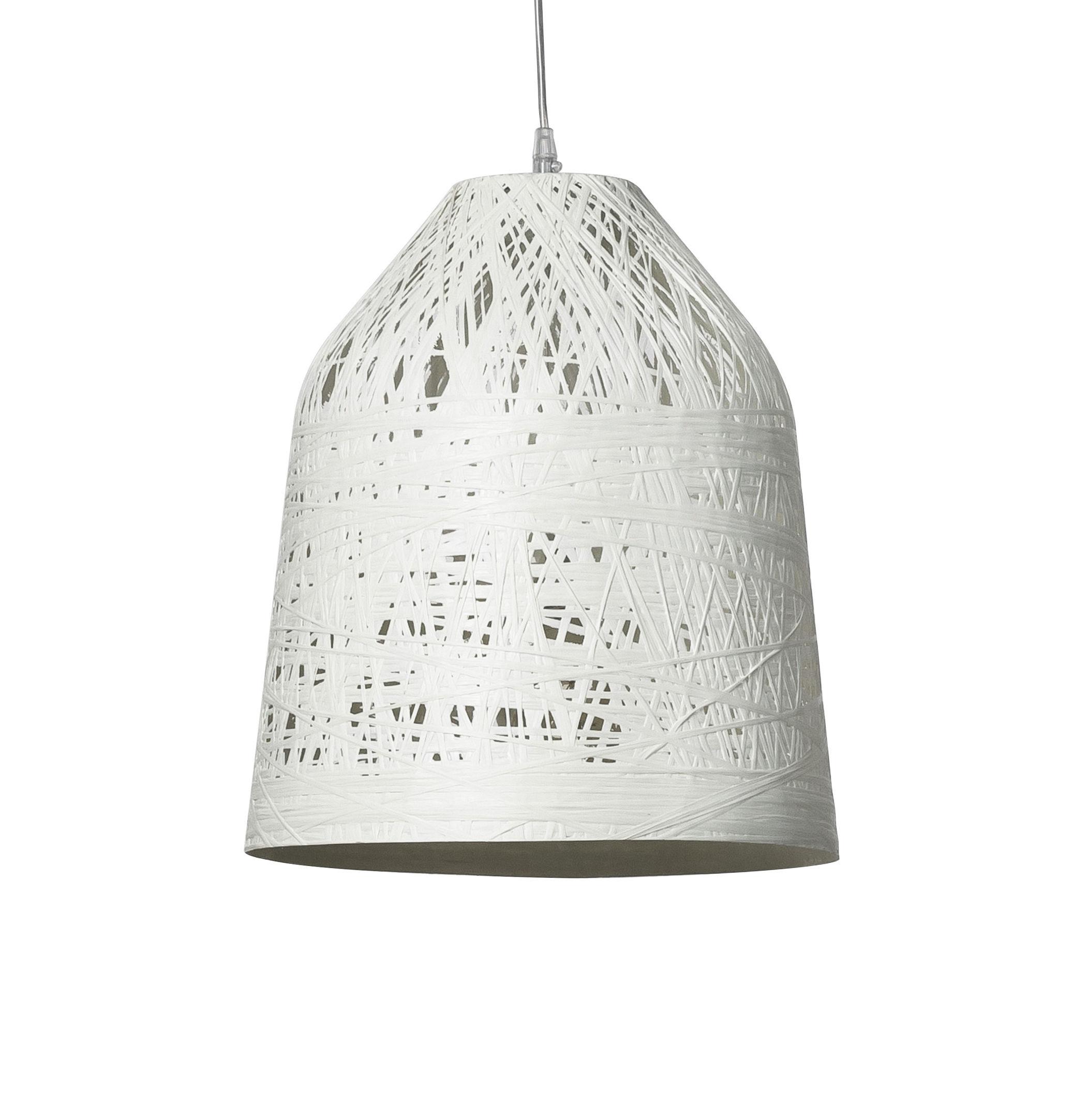 Lighting - Pendant Lighting - Black out Pendant - Outdoor - H 40 x Ø 35 cm by Karman - White - Fibreglass