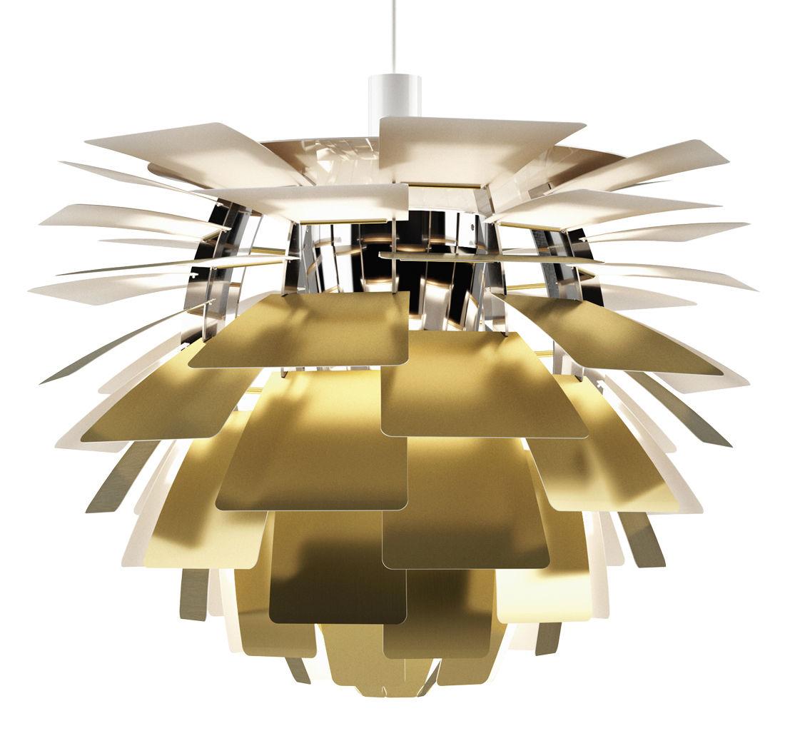 Lighting - Pendant Lighting - PH Artichoke Pendant - Ø 60 cm / Special 60th anniversary edition by Louis Poulsen - Brushed brass - Brushed brass