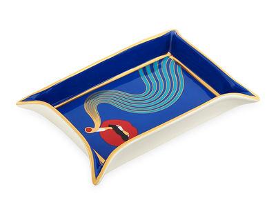 Déco - Corbeilles, centres de table, vide-poches - Plateau Full Dose / Vide-poches - Or 16 carats - Jonathan Adler - Full Dose / Bleu, rouge & or - Porcelaine