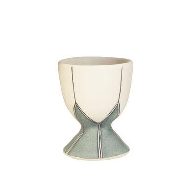 Tavola - Portauova - Portauovo Daria - / Ceramica dipinto a mano di Maison Sarah Lavoine - Celadon - Ceramica smaltata