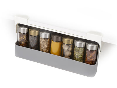 Kitchenware - Kitchen Storage Jars - Hanging spice rack - / For shelves & cupboards - L 23.5 x D 22.5 cm by Joseph Joseph - Grey - Polypropylene