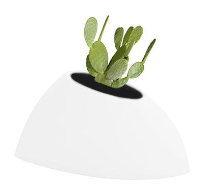 Pot de fleurs Tao S H 36 cm - MyYour blanc en verre/matière plastique