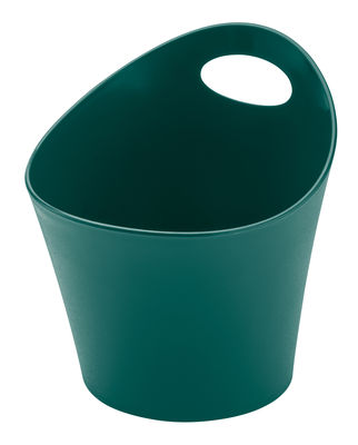 Pot Pottichelli M / Ø 17 x H 15 cm - Koziol vert sapin en matière plastique