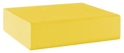 Pouf Matrass Mat 75 - Quinze & Milan jaune en matière plastique