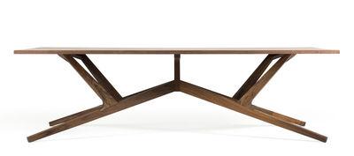 Möbel - Tische - Liberty rechteckiger Tisch / Nussbaum massiv 260 x 110 cm - Moooi - Nussbaum - Nussbaum massiv