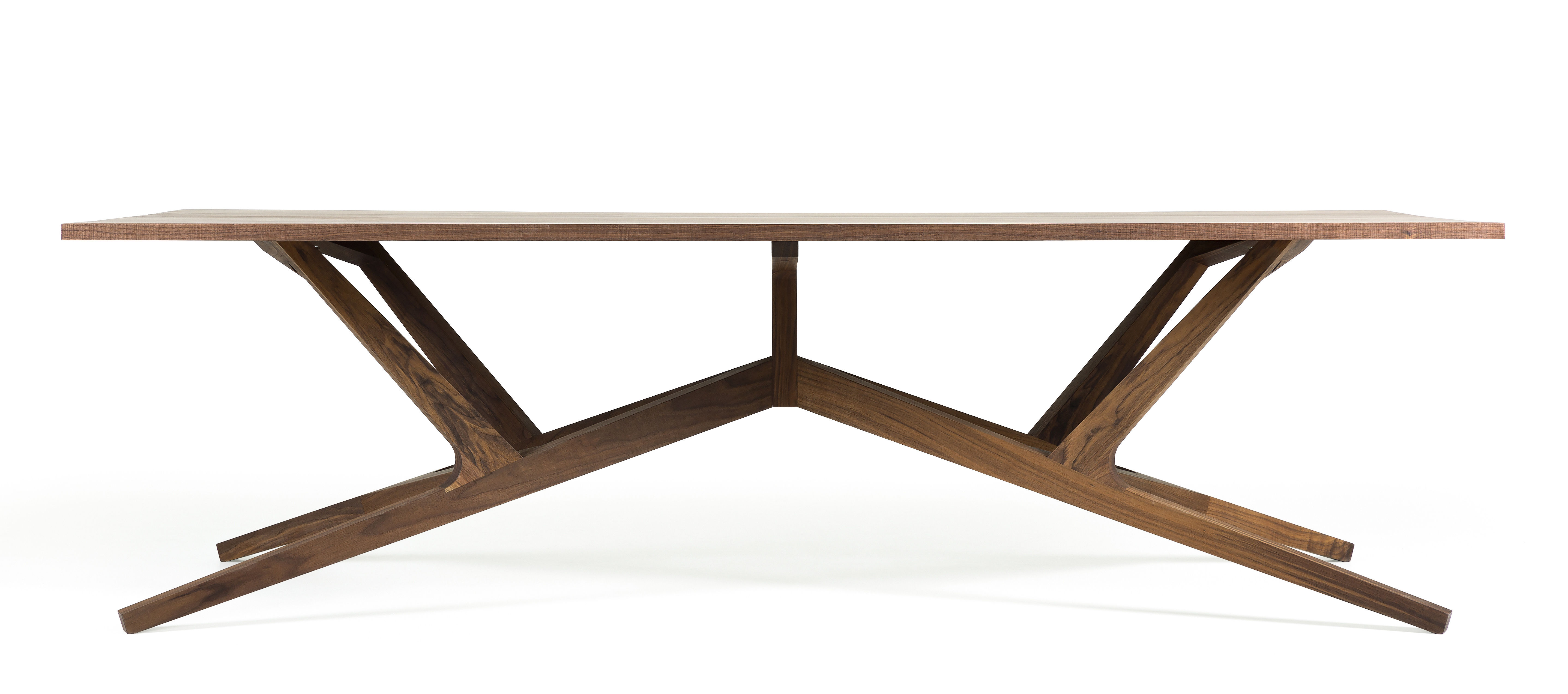 Furniture - Dining Tables - Liberty Rectangular table - / Solid walnut - 260 x 110 cm by Moooi - Walnut - Solid walnut