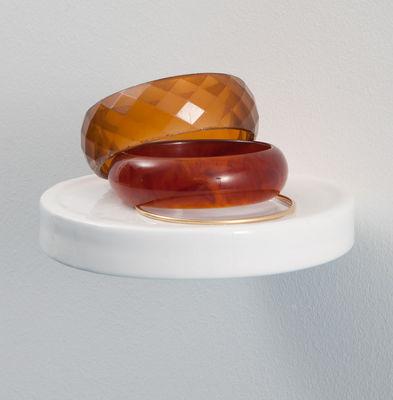 Arredamento - Scaffali e librerie - Scaffale Balcon - / Ceramica - Ø 14 cm di Moustache - Ceramica bianca - Ceramica