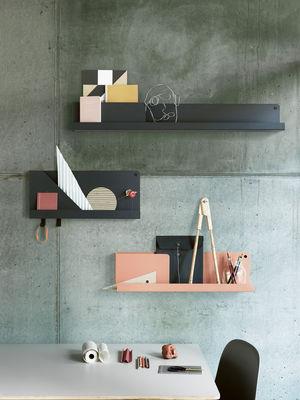 Mensole In Metallo Design.Scaffale Folded Small Di Muuto Nero Made In Design