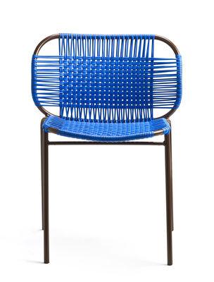 Image of Sedia impilabile Cielo - / Fili PVC di ames - Blu,Marrone - Materiale plastico