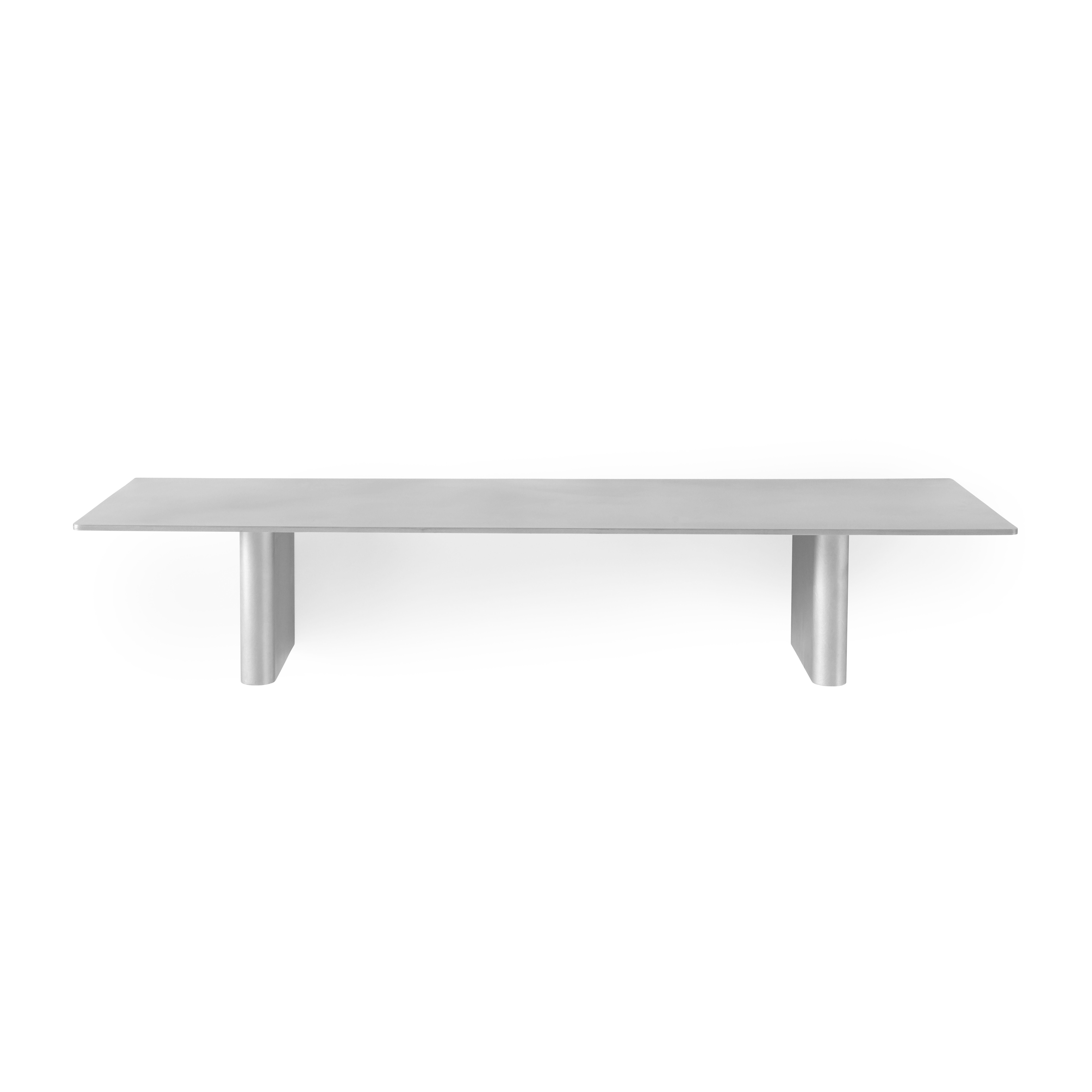 Furniture - Bookcases & Bookshelves - Column JA2 Shelf - / Aluminium - L 80 cm by &tradition - Aluminium - Aluminium