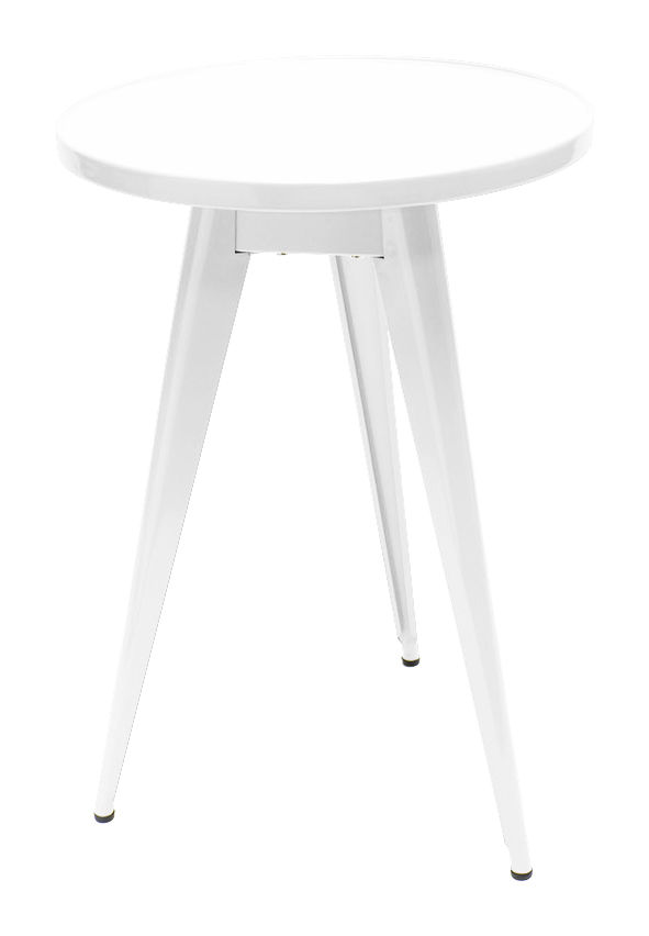 Furniture - Coffee Tables - 55 Small table by Tolix - White - Lacquered steel