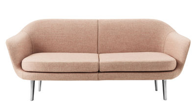 Möbel - Sofas - Sum Modular Sofa / 2 Module - L 182 cm - Normann Copenhagen - Rosa - Aluminium, Gewebe