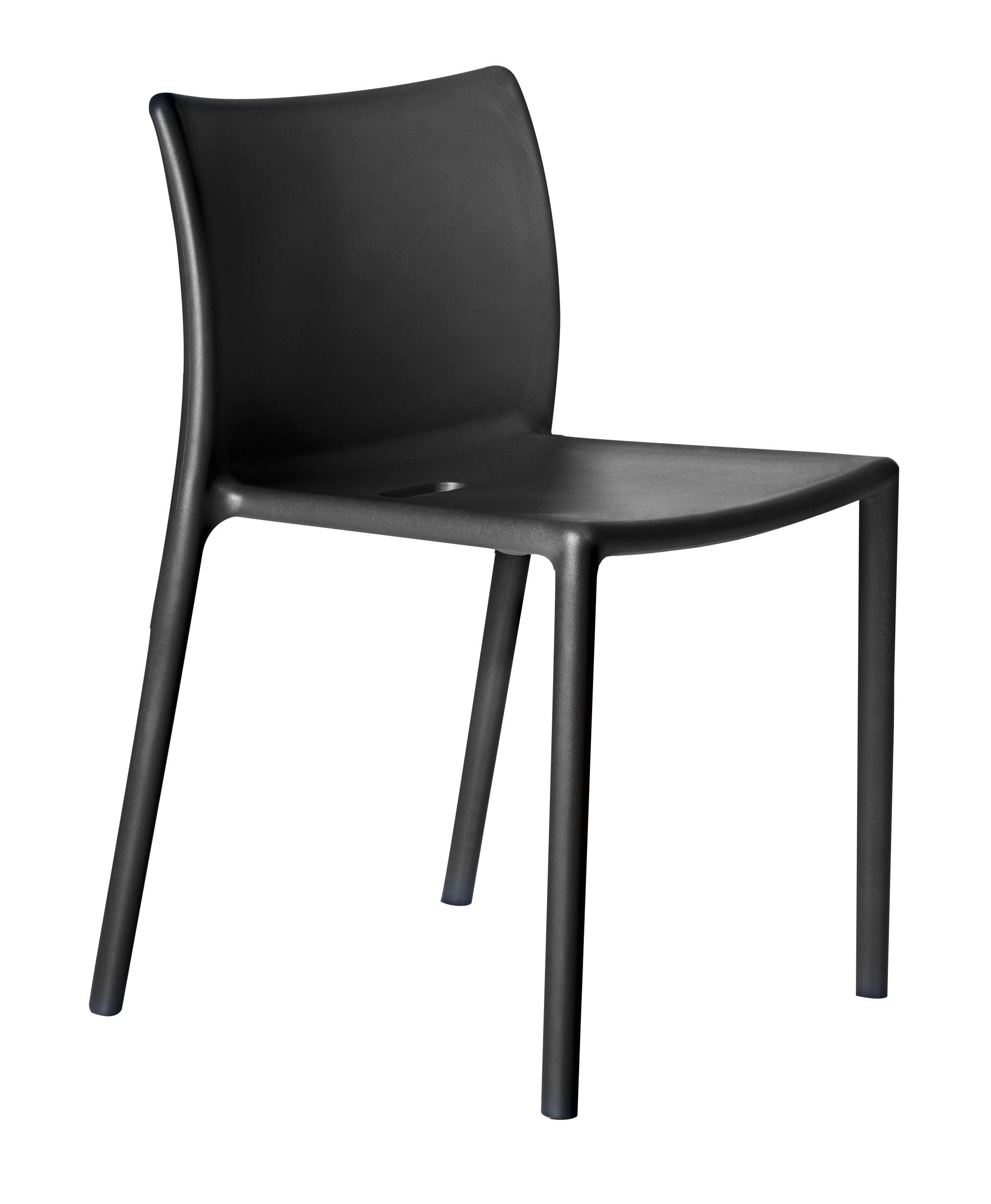 Möbel - Stühle  - Air-chair Stapelbarer Stuhl - Magis - Schwarz - Polypropylen