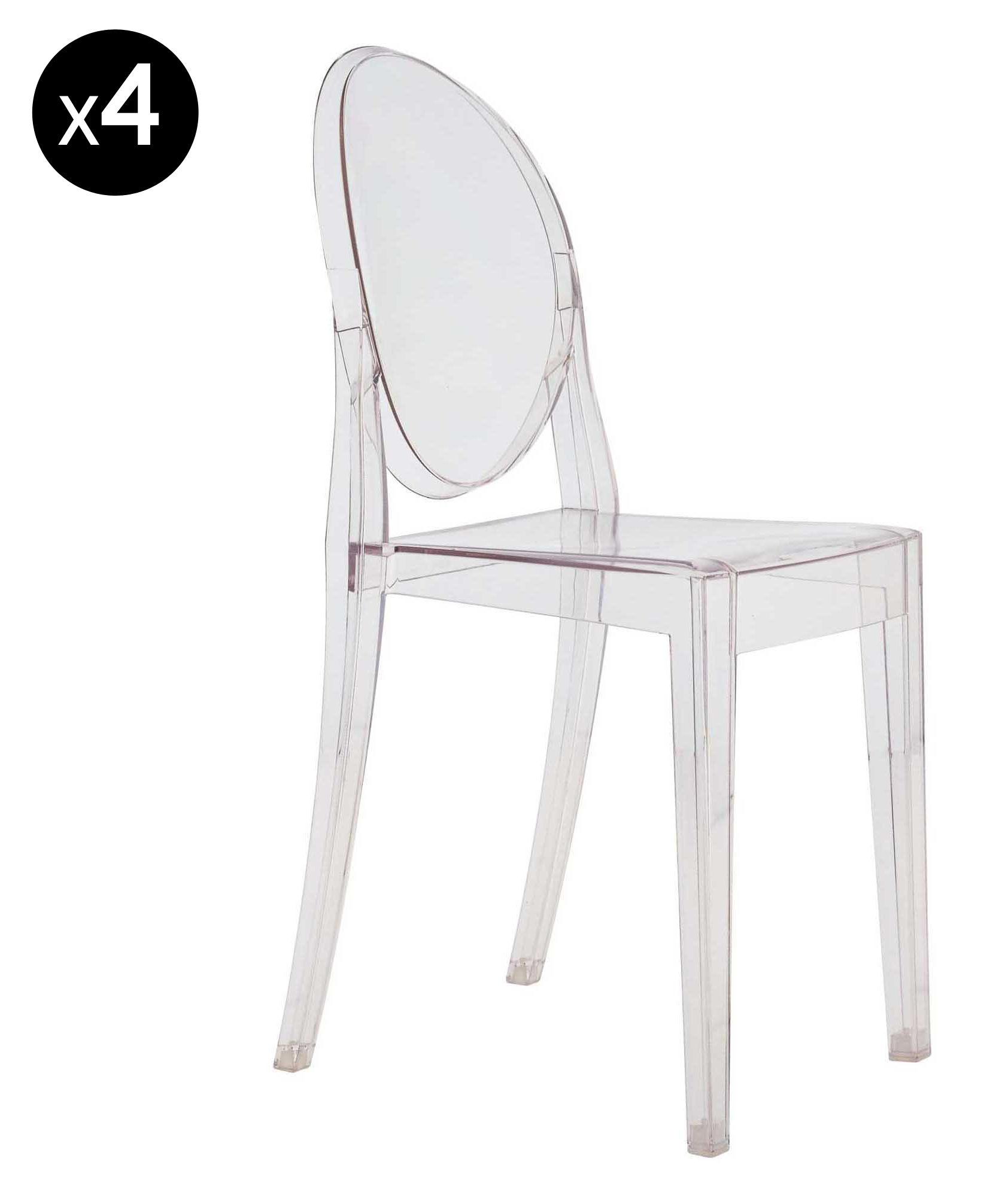Victoria Ghost Set mit 4 Stühlen | Kartell | Stuhl