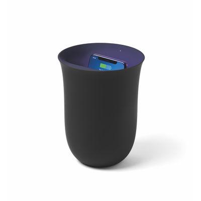 Accessoires - Objets connectés, accessoires high tech - Station de charge sans fil Oblio / Stérilisateur UV intégré - Lexon - Noir - ABS, Gomme