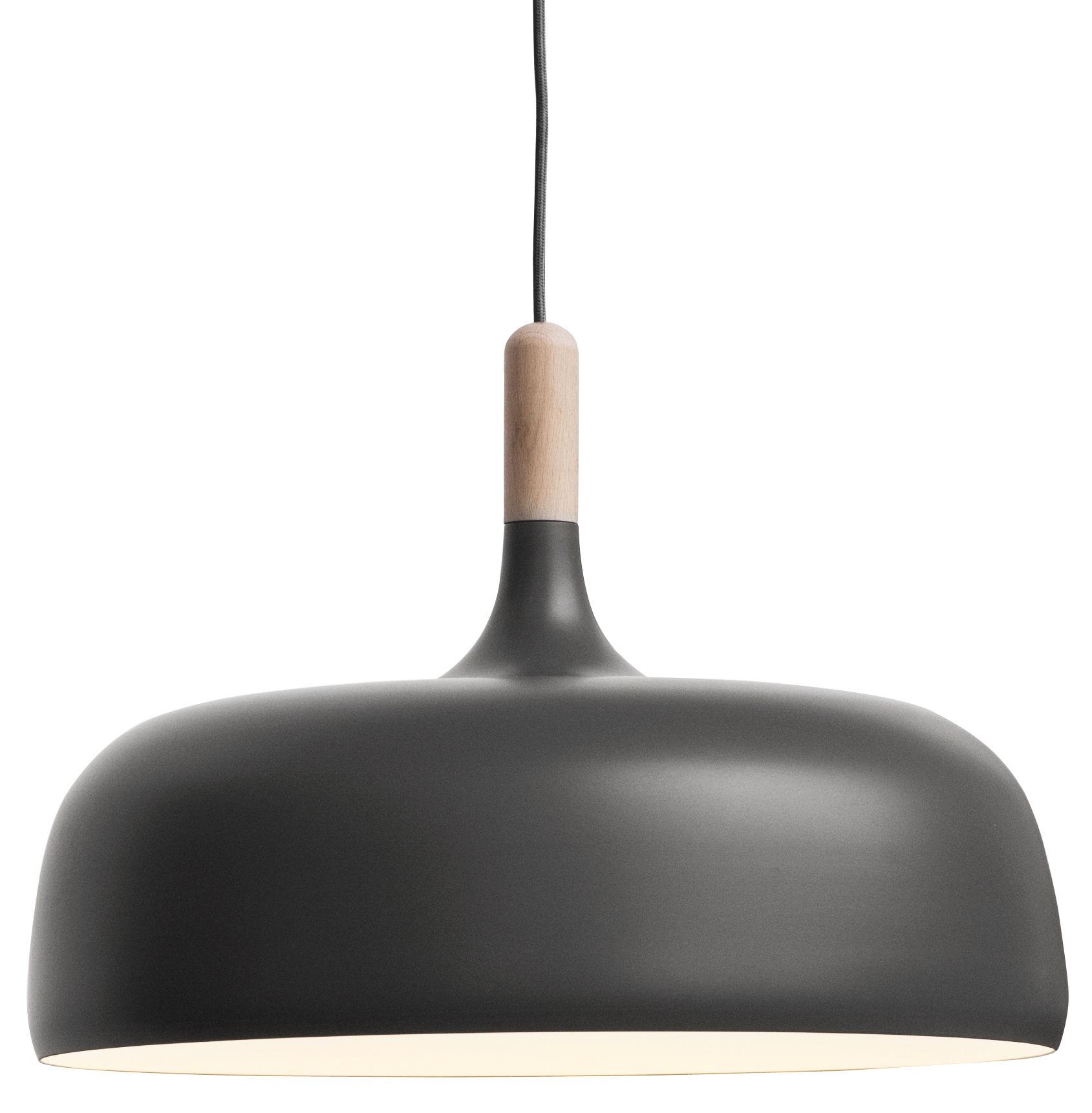 Luminaire - Suspensions - Suspension Acorn - Northern  - Gris / Bois naturel - Aluminium, Chêne naturel
