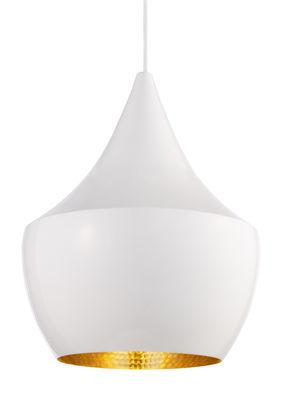 Suspension Beat Fat / Ø 24 cm x H 30 cm - Tom Dixon blanc,or en métal
