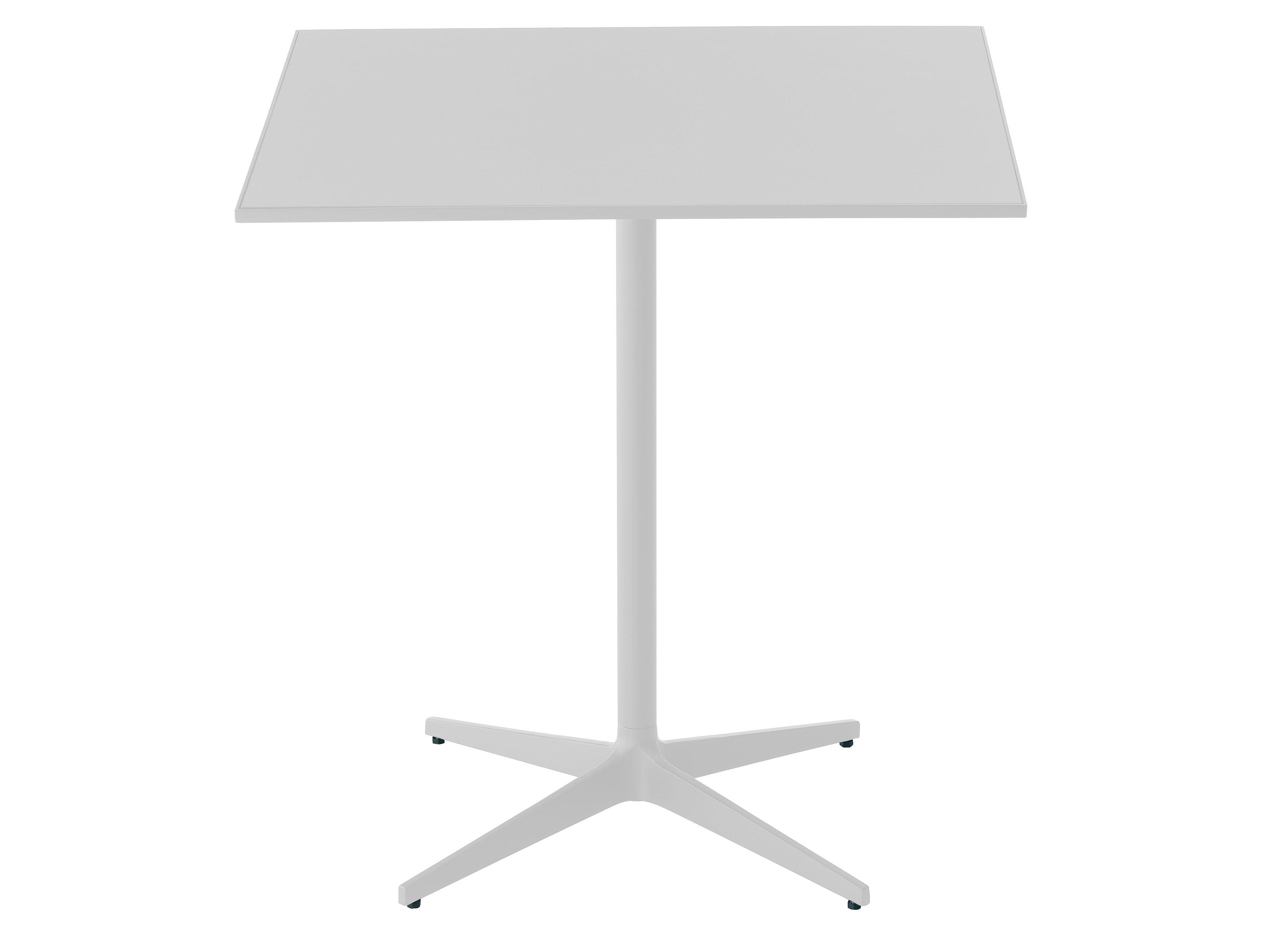 Furniture - Dining Tables - T Table carrée by MDF Italia - White - Lacquered steel, Resin