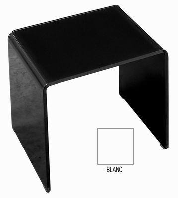 Table basse Curvi 3 L 62 cm - Glas Italia blanc laqué en verre