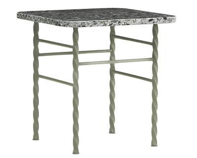 Mobilier - Tables basses - Table basse Terra Small / 40 x 40 x H 42 cm - Terrazzo - Normann Copenhagen - Vert - Acier laqué époxy, Terrazzo