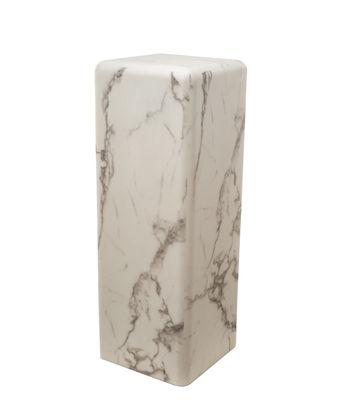 Table d'appoint Marble look Large / H 91 cm - Effet marbre - Pols Potten blanc en matériau composite