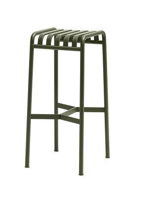Tabouret de bar Palissade / H 75 cm - R & E Bouroullec - Hay vert olive en métal