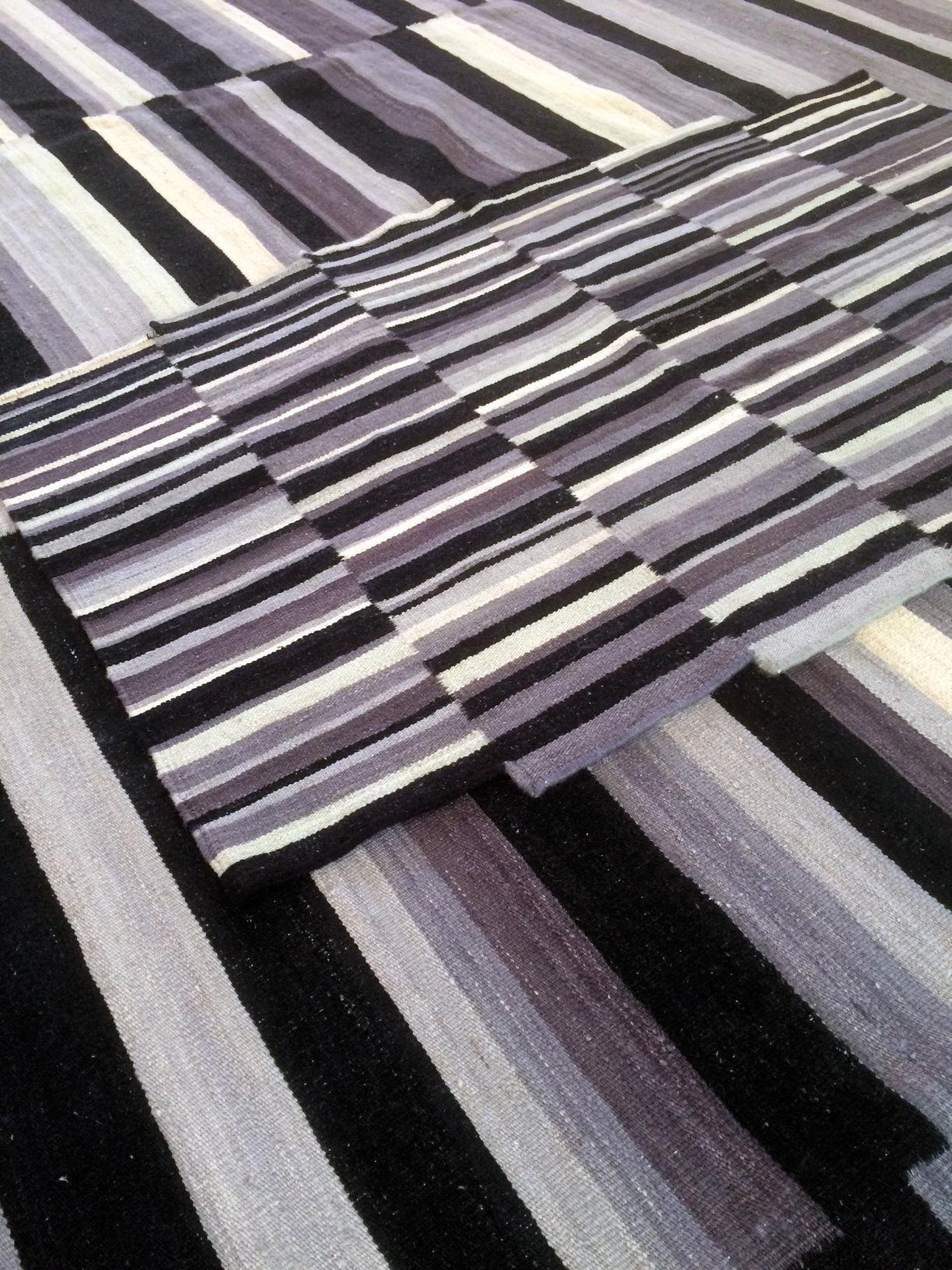 Tapis lattice exclusivit 148 x 240 cm gris noir - Made in design tapis ...