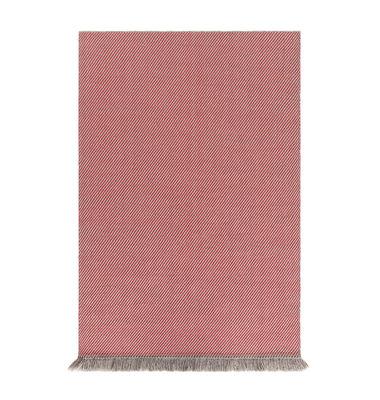 Image of Tappeto Garden Layers - / 90 x 200 cm - Tessuto a mano di Gan - Rosso/Beige - Tessuto