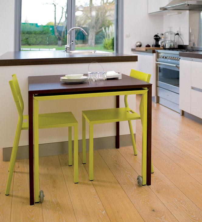Tavolo con prolunga rafale s di mati re grise verde for Prolunga tavolo