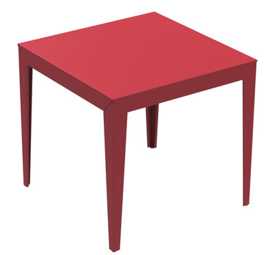 Zef Tisch / 80 x 80 cm - Matière Grise - Rot