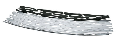 Tischkultur - Körbe, Fruchtkörbe und Tischgestecke - Bark Tischgesteck / 51,5 x 19,5 cm - Alessi - Stahl, poliert, mit Spiegeloberfläche - Acier inoxydable 18/10