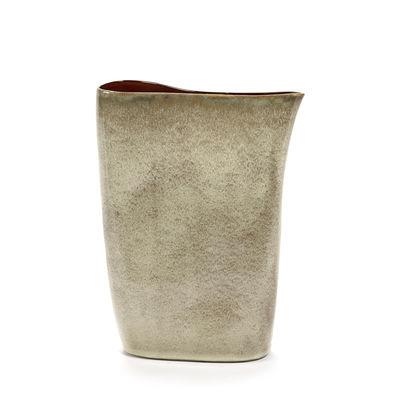 Vase Anita Haut / H 33 cm - Fait main - Serax beige en céramique
