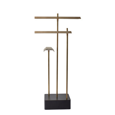 Lighting - Table Lamps - Knokke LED Wireless lamp - / H 35 cm - USB charging by DCW éditions - Brass - brushed natural brass, Steel