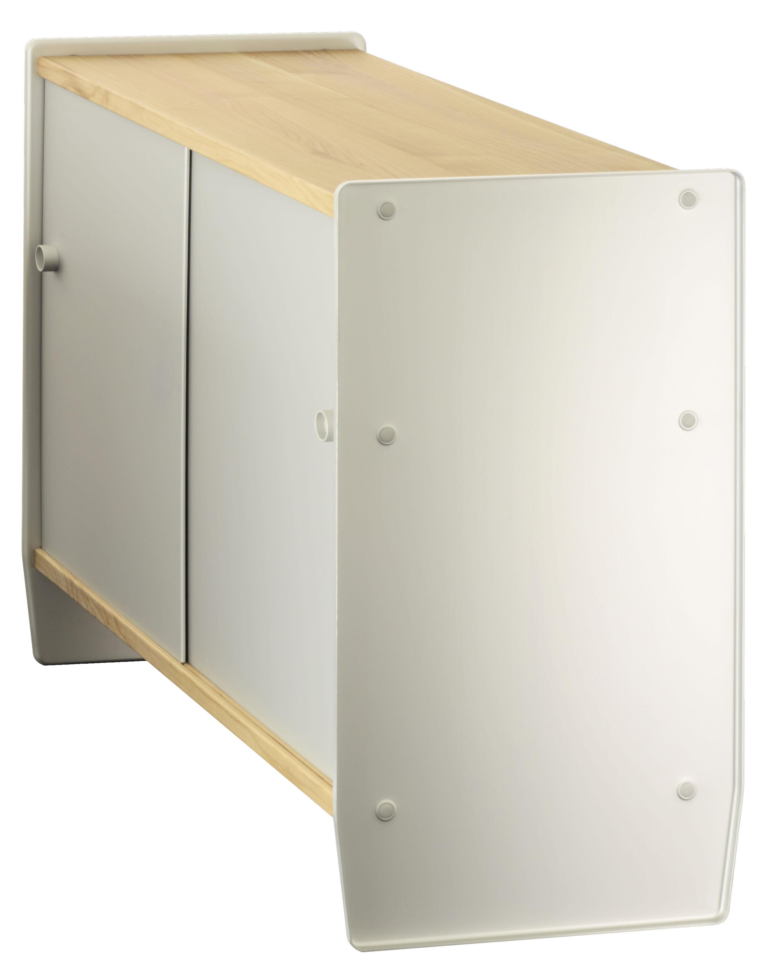 Möbel - Kommode und Anrichte - Theca Anrichte / hoch - L 123 x H 78 cm - Magis - Kirschbaum natur / eloxiertes Aluminium - eloxiertes Aluminium, MDF plaqué cerisier