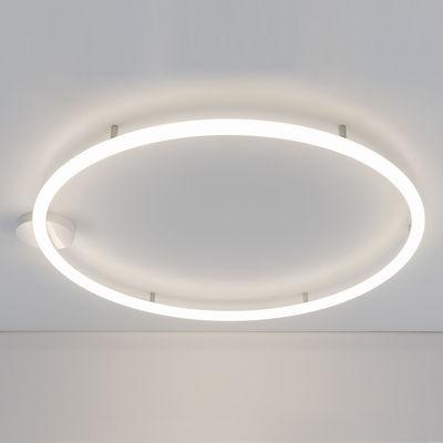 Luminaire - Appliques - Applique Alphabet of light Circular / LED - Ø 155 cm / Bluetooth - Artemide - Ø 155 cm / Blanc - Aluminium, Méthacrylate