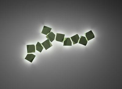 Luminaire - Appliques - Applique d'extérieur Origami LED / Motifs n°2 - Vibia - Marron - Polycarbonate