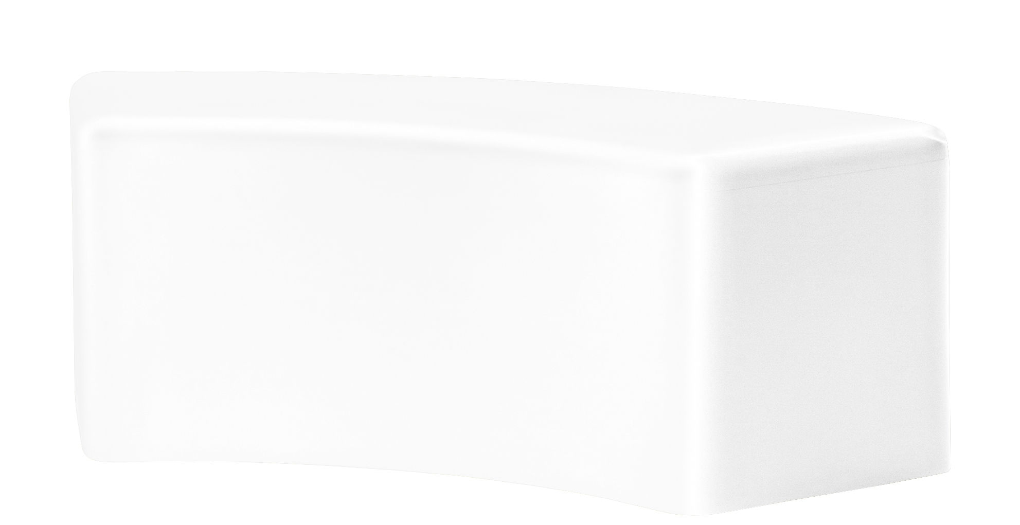 Mobilier - Bancs - Banc Soft Snake / L 120 cm - Mousse - Slide - Blanc - Mousse de polyuréthane