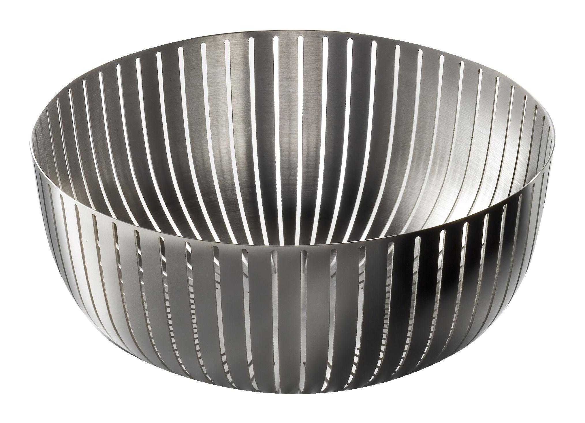 Tableware - Fruit Bowls & Centrepieces - Va bene cosi Basket - Ø 20 cm by Serafino Zani - Polished stainless steel - Stainless steel