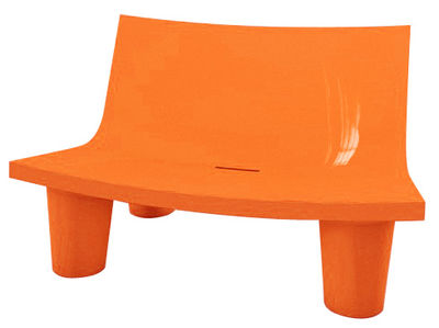 Canapé Low Lita Love / L 118 cm - Version laquée - Slide laqué orange en matière plastique