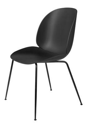 Chaise Beetle / Gamfratesi - Pieds noirs - Gubi noir en métal