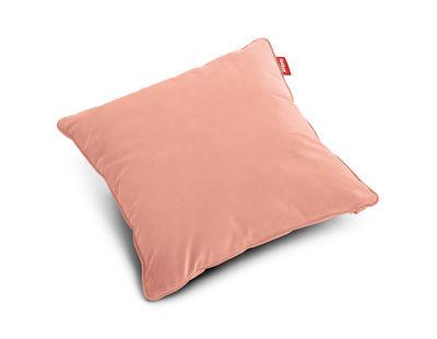 Coussin Square Velvet / Velours - 50 x 50 cm - Fatboy rose pâle en tissu