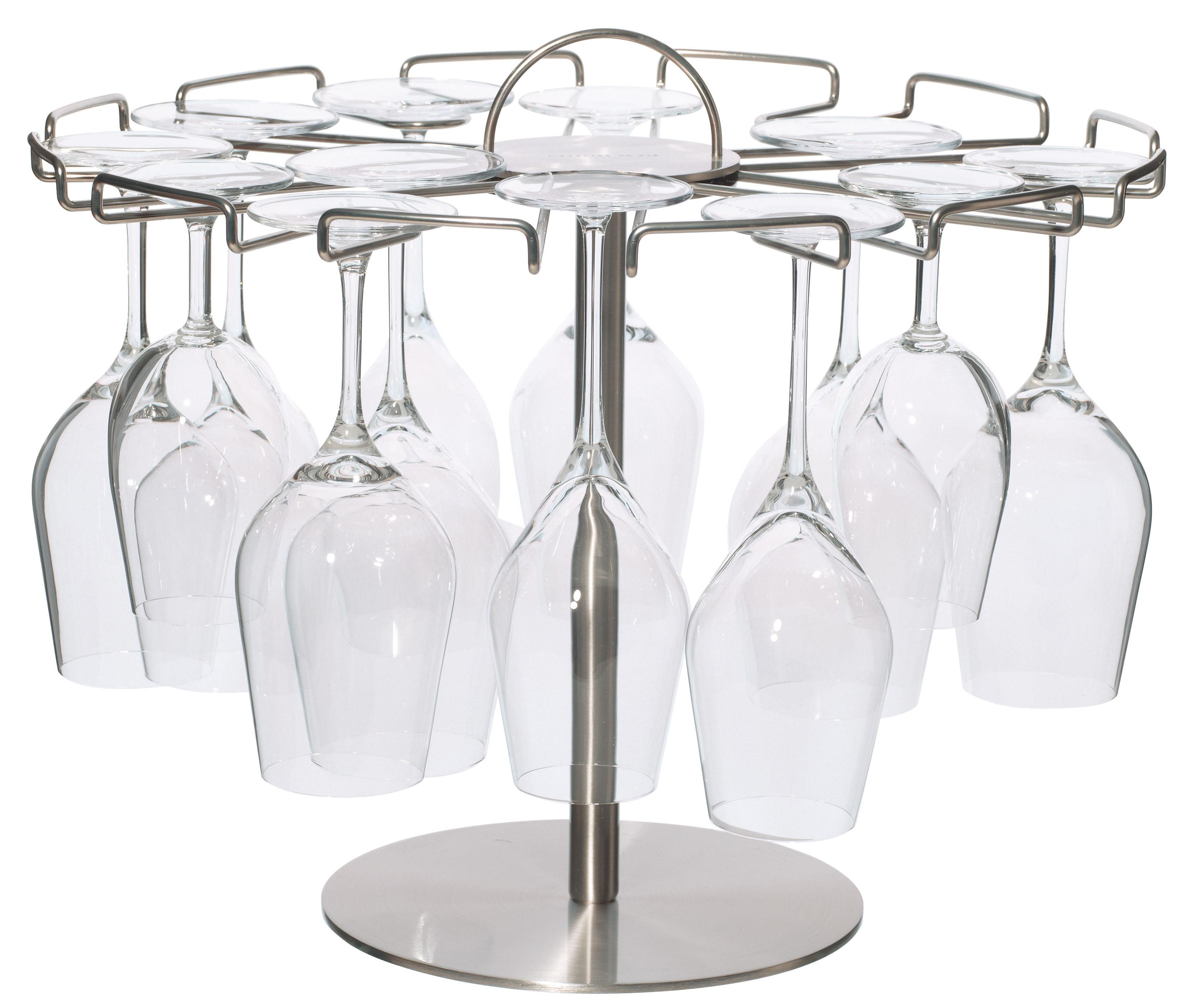 Arts de la table - Bar, vin, apéritif - Egouttoir L'arbre à Verres  / Présentoir 18 verres - L'Atelier du Vin - Acier - Acier chromé, Acier inoxydable