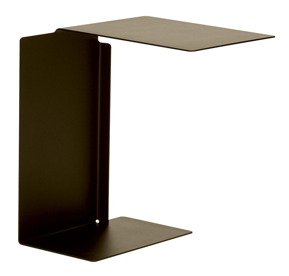 Furniture - Coffee Tables - Diana B End table - / Table top on the right by ClassiCon - Bronze brown - Varnished stainless steel