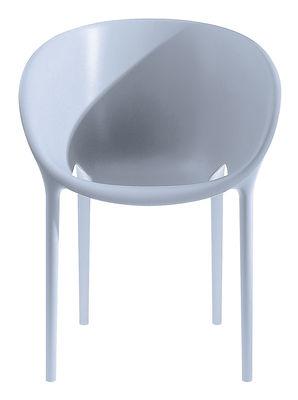 Fauteuil empilable Soft Egg / Polypropylène - Driade gris en matière plastique