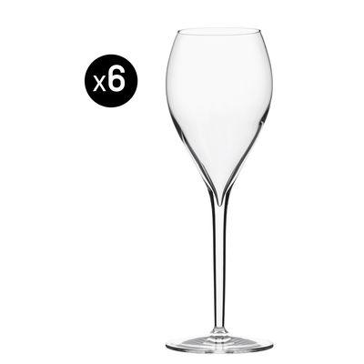 Tavola - Bicchieri  - Flûte da champagne Privé Grand Cru - per vino bianco o spumante - Lotto da 6 - 33 cl di Italesse - Vino bianco & spumante / 33 cl - Vetro